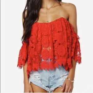 Tularosa Amelia top in RED